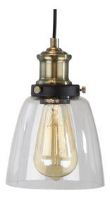 Negro Vintage 1 Lámpara Latón Luz E27 Colgante Mate Antiguo 6f7gyvIYb
