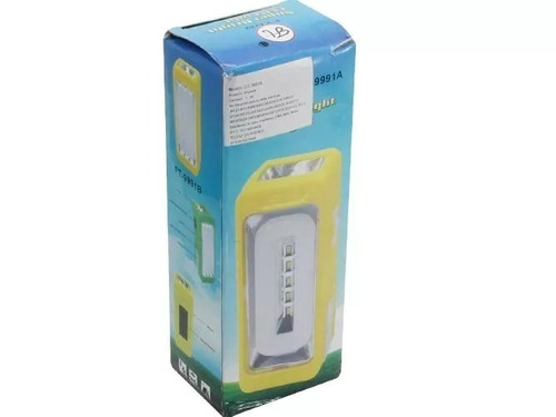 lampara con carga solar led luz blanca para emergencia