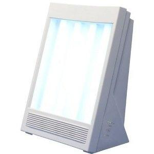 lámpara con luz terapéutica y iones  efecto luz del sol