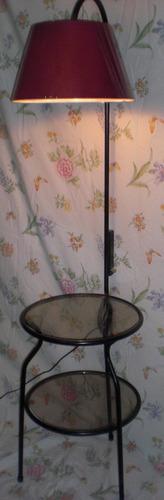 lampara con reg. de intensidad -mesita 2 niveles de vidrio