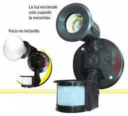 Lampara con sensor de movimiento ajuste de luz dia noche - Sensor de movimiento luz ...