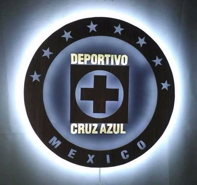 Lampara Cruz Azul Retroiluminado Con Leds Maquina