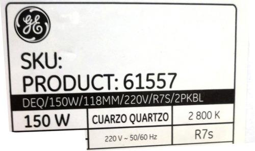 lampara cuarzo halogena 150w 118mm dimerizable g. electric