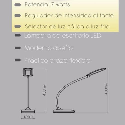 Lámpara D Escritorio Velador Moderno Led Al Tacto Dormitorio ...