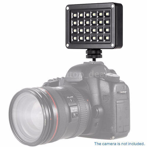 lampara de 24 leds para video 1200lm 200-5500k