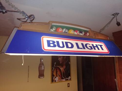 lampara de billar budweiser 80's