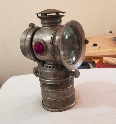 lampara de carburo antigua minera