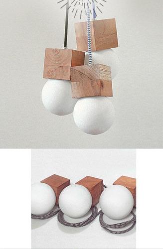 lampara de colgar de madera