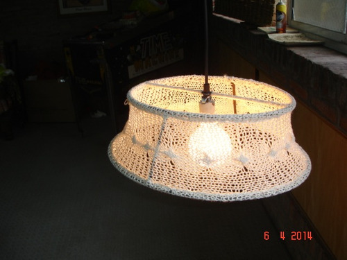 lampara de colgar tejida artesanal color a elección