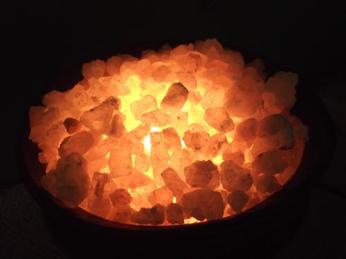 lampara de cristal de sal
