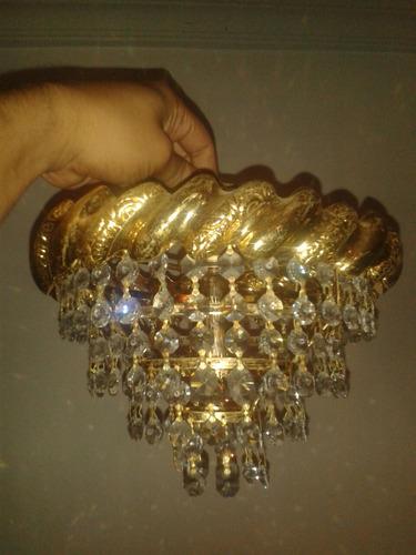 lampara de cristal de techo