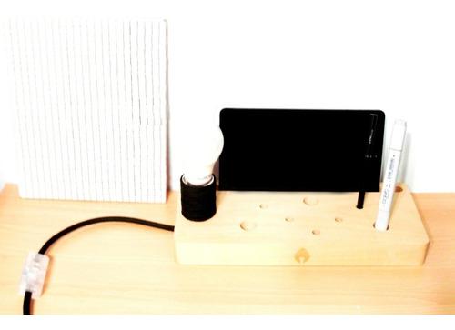 lámpara de diseño, base organizadora  ampi