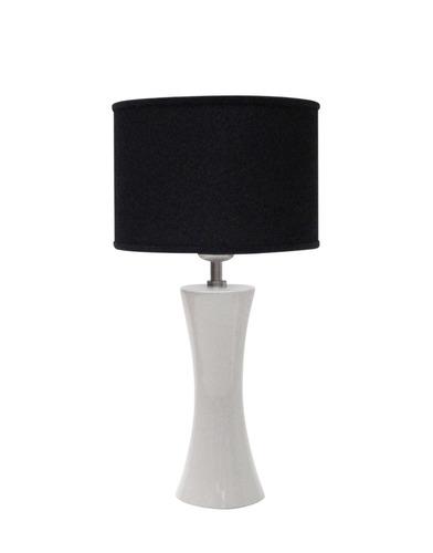 lampara de diseño nogal blanco velador moderno. lampdesign.