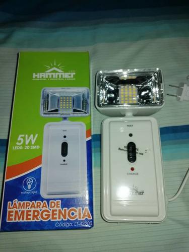 lampara de emergencia 1 faro cuadrado led 5w hammer