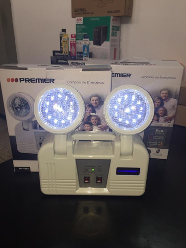 lampara de emergencia led recargable premier modelo em5662
