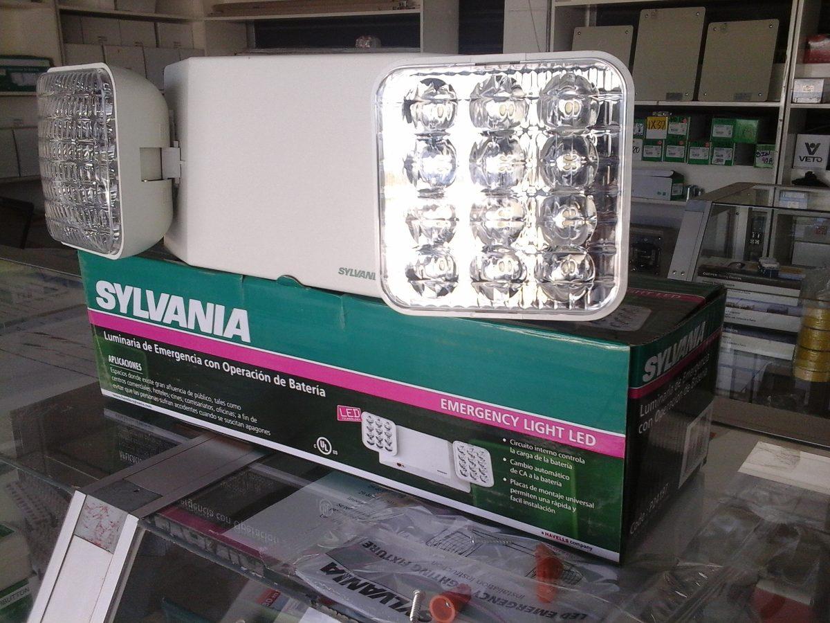 Lampara de emergencia led sylvania u s 22 50 en mercado - Luces emergencia led ...