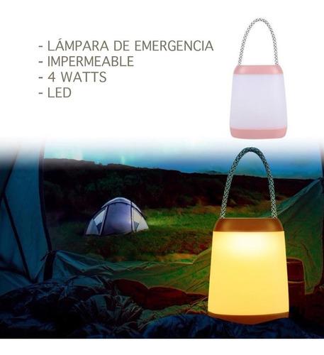 lampara de emergencia portátil led para camping rosa