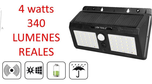 lampara de energia solar 4 watts  50 led  350 lúmens