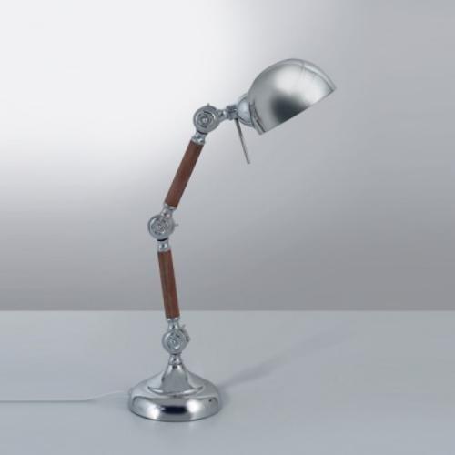 lampara de escritorio articulada casque cromado