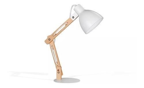 lampara de escritorio combinada genk bco/negro