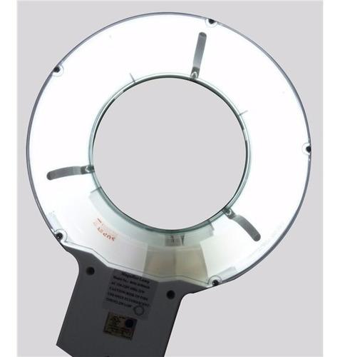 lampara de escritorio con lupa de 125mm 5x y luz blanca obi