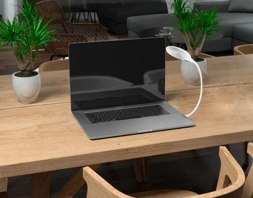 lampara de escritorio de led flexible blanca tokin 3w usb