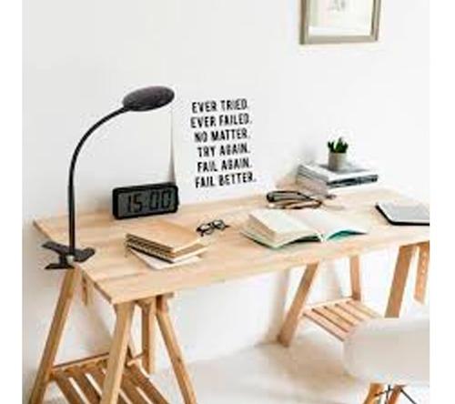 lámpara de escritorio integra flexible con broche l naranja