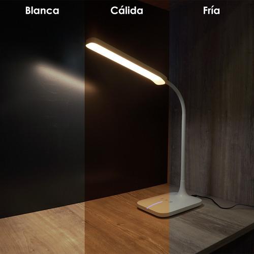 lampara de escritorio led velador touch regulable