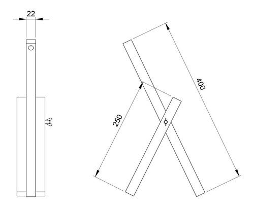 lámpara de escritorio / mesa - madera - diseño escandinavo