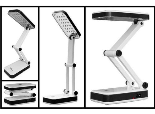 lampara de escritorio plegable recargable led con dimmer