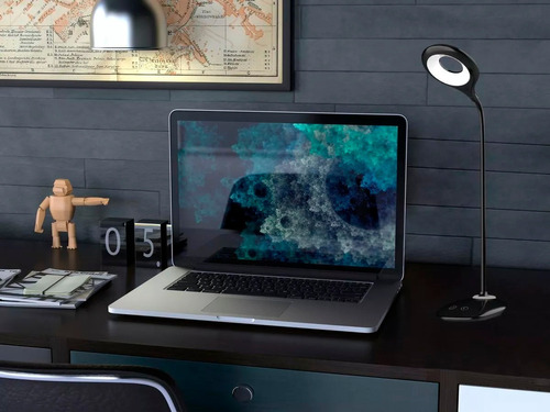 lámpara de escritorio sarli  autónoma flexible blanco full