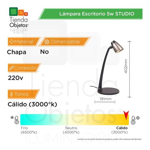 lámpara de escritorio studio led 5w 3000k calido deco cuotas