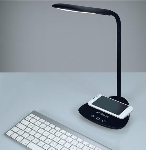 lámpara de escritorio touch 6w led flexible c/carga celular
