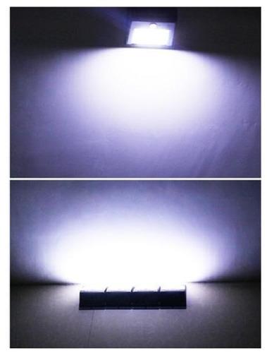lámpara de exterior de 20 led con sensor y panel solar