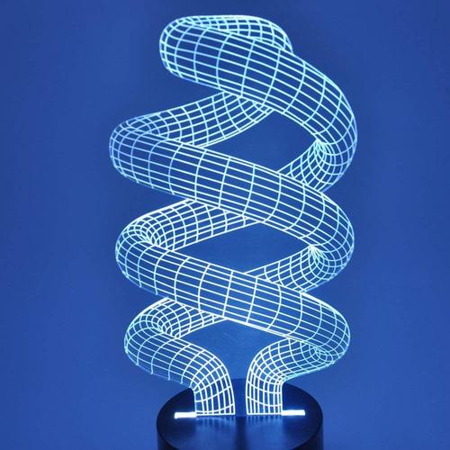 lámpara de la iluminación del espiral led de la ilusión 3