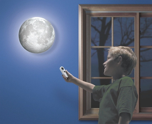lampara de la luna super moon led 3d uncle milton original