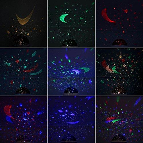 lámpara de la noche del cielo de la estrella, anteqi bebé en