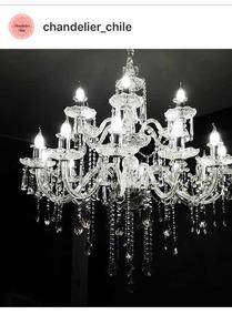 Transparente Y 12luces Lámpara Lagrimas Cristal Negra De wyNnvOm80