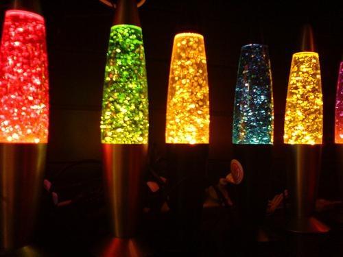 lampara de lava o glitter 35 cm aluminio gaussini wax ndd