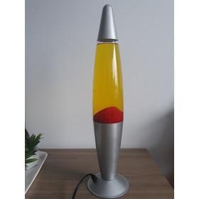 Lámpara De Lava Roja Y Amarilla Sin Foquito