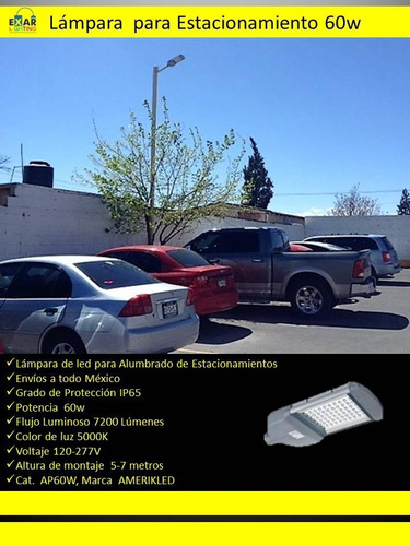 lampara de led 60w para estacionamiento