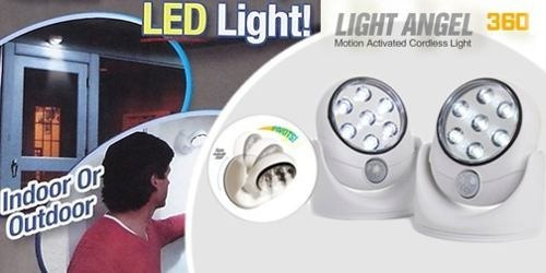 lampara de led light angel con sensor de movimiento giratori