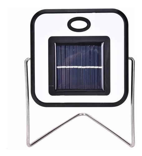 lámpara de led portátil carga usb y solar camping emergencia