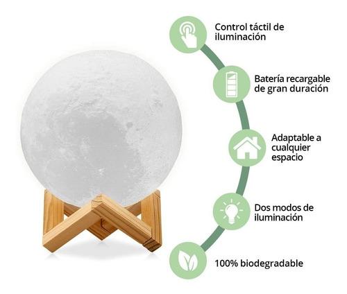 lámpara de luna 3d, control táctil e intensidad reg