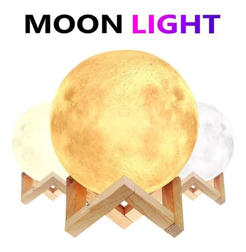 lámpara de luna llena led 16cm + 16 colores + control remoto