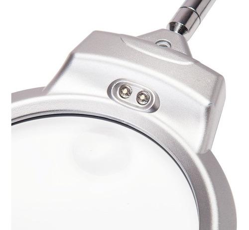 lampara de lupa luz led de mesa o escritorio flex
