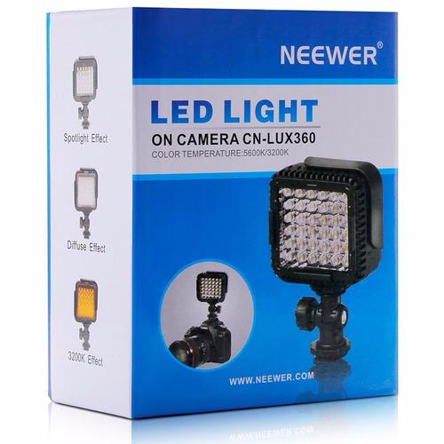 lámpara de luz neewer cn k lux360 para canon nikon cámara d
