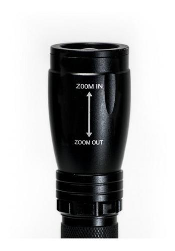 lampara de mano led tactica baterias incluidas! marca mirage