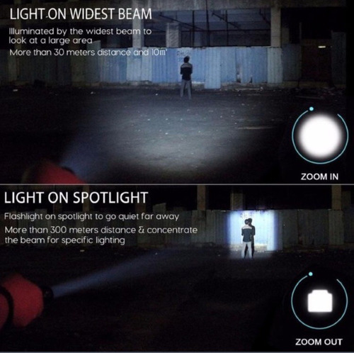 lampara de mano super potente 5000 lumenes ligera envio grat