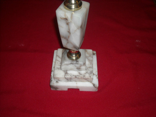 lampara de marmol y bronce